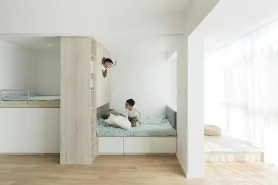 二胎家庭别做上下铺了 这样设计孩子都有独立空间
